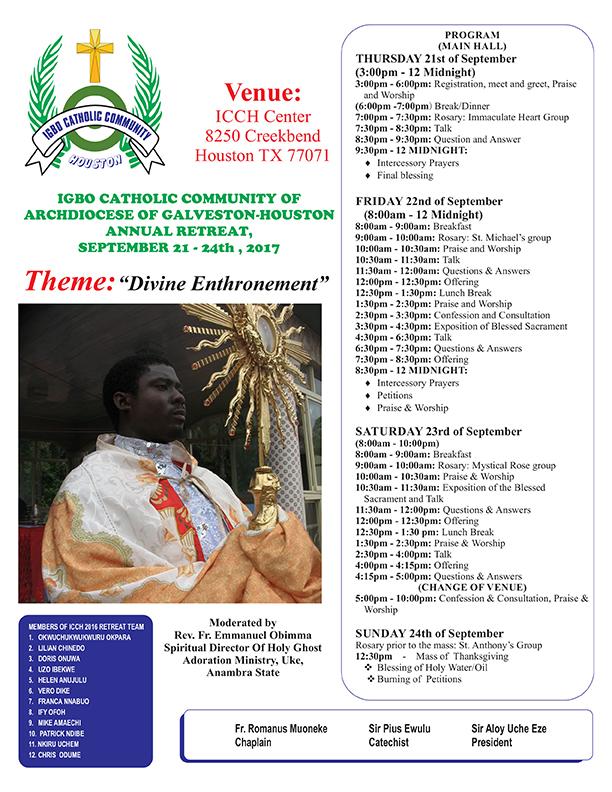 NEWS/EVENTS   IGBO Catholic Community